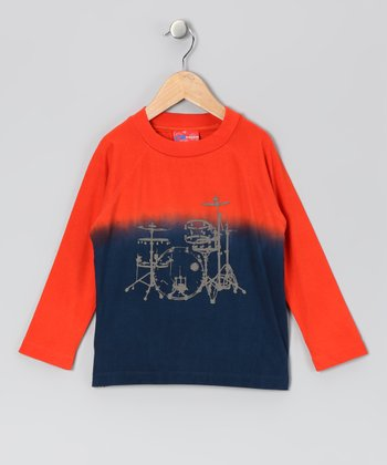 Orange & Blue Drum Set Tee - Infant, Toddler & Boys