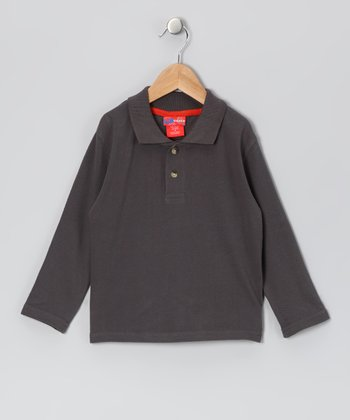 Charcoal Polo - Infant & Boys