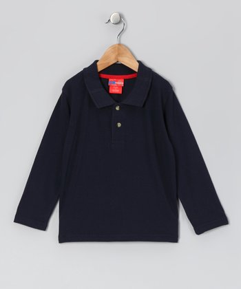 Navy Polo - Infant