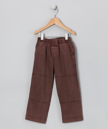 Brown Twill Pants - Infant & Toddler