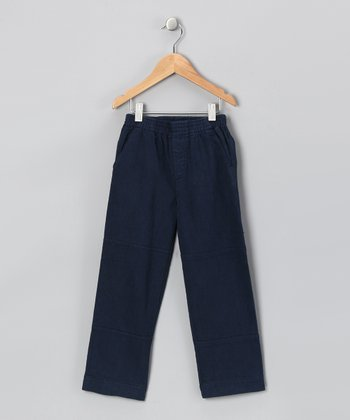 Navy Twill Pants - Infant & Toddler