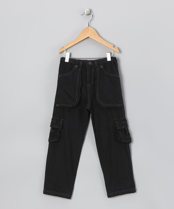 Black Cargo Pants - Toddler & Boys