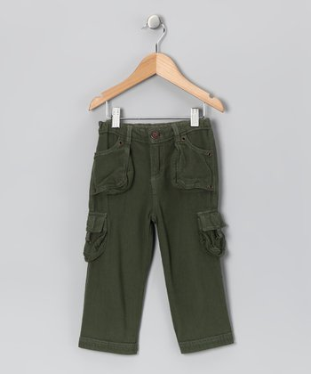 Loden Green Cargo Pants - Toddler & Boys