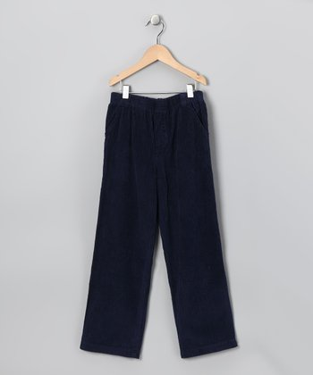 Navy Corduroy Pants - Boys