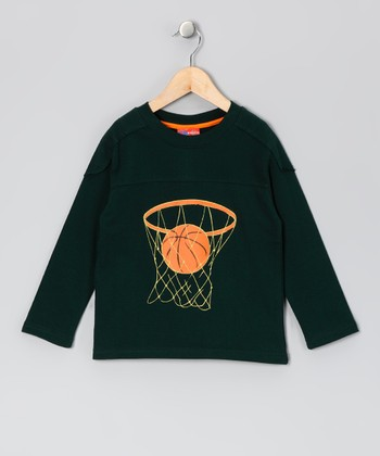 Green Basketball Tee - Toddler & Boys