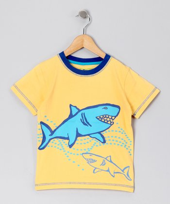 Yellow Shark Tee - Toddler