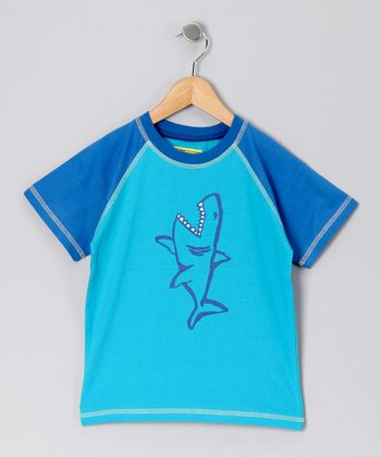 New Blue Shark Raglan Tee - Infant, Toddler & Boys