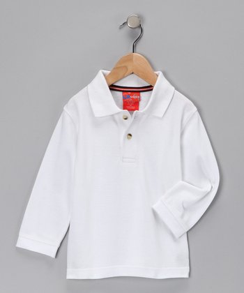 White Polo - Toddler & Boys