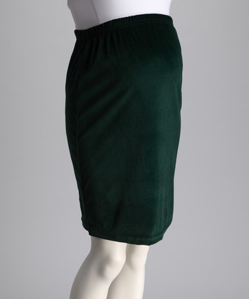 Spruce Velour Maternity Skirt