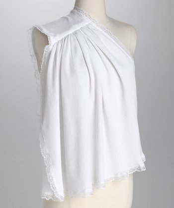 White Nursing Shawl