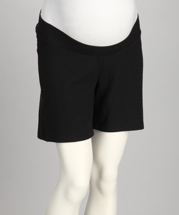Black Under-Belly Maternity Shorts