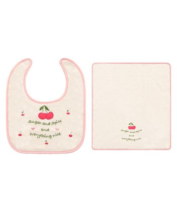 'Sugar and Spice' Bib & Burp Cloth