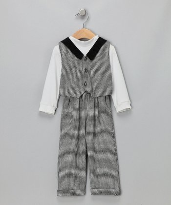 Black & White Pants Set - Infant