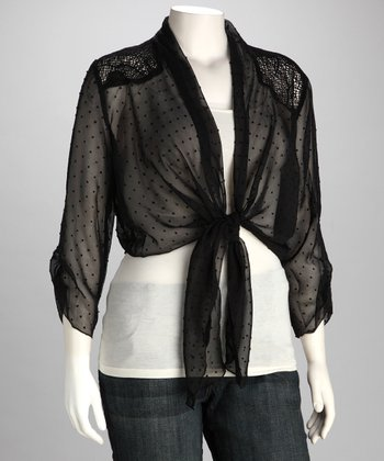 Black Sheer Bolero - Plus