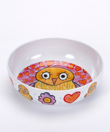 White & Purple Houtie Love You Melamine Bowl