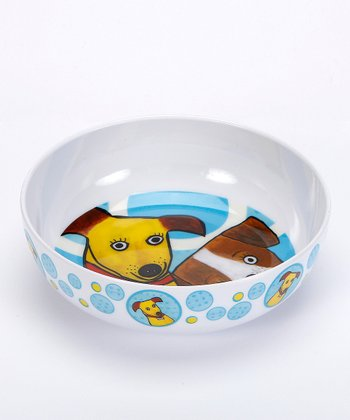 White & Brown Go Puppy Go Melamine Bowl