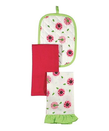 Oops A Daisy Lolita Pot Holder & Towel Set