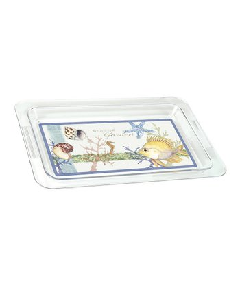 Seaside Garden Acrylic Serving Tray
