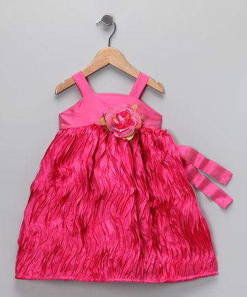 Fuchsia Rose Dress - Infant