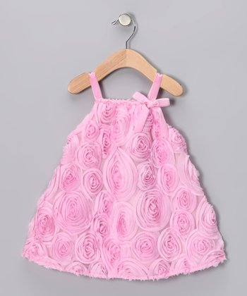 Pink Bubbaloo Rosette Swing Dress - Infant, Toddler & Girls