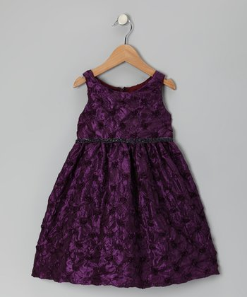 Purple Rose Garden Dress - Infant, Toddler & Girls