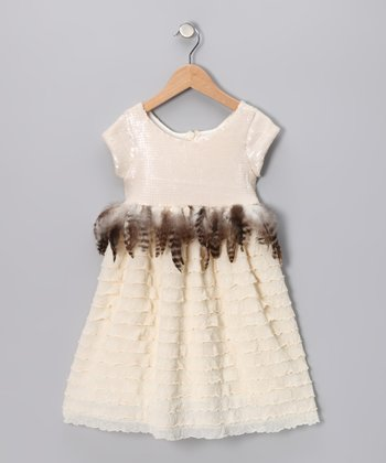Cream Jackie O Dress - Toddler & Girls