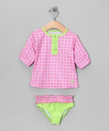 Pink & Green Rashguard Set - Infant
