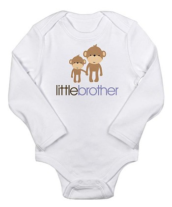 White 'Little Brother' Bodysuit - Infant