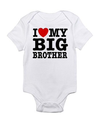 White 'I Love My Big Brother' Bodysuit - Infant