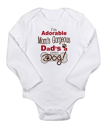 White 'I'm Adorable' Long-Sleeve Bodysuit - Infant