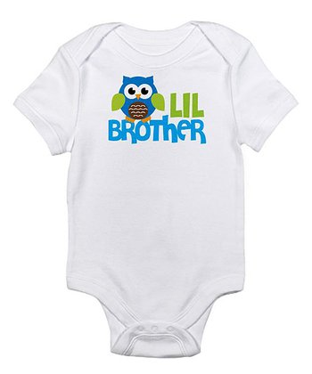 White 'Lil Brother' Bodysuit - Infant