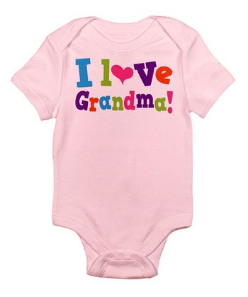 Pink 'I Love Grandma' Bodysuit - Infant