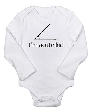 White 'I'm Acute Kid' Bodysuit - Infant