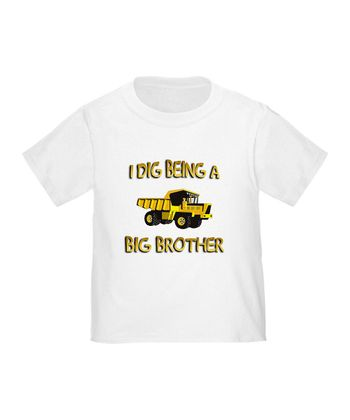 White 'I Dig Being a Big Brother' Tee - Toddler