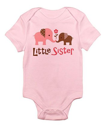 Pink Elephant 'Little Sister' Bodysuit - Infant