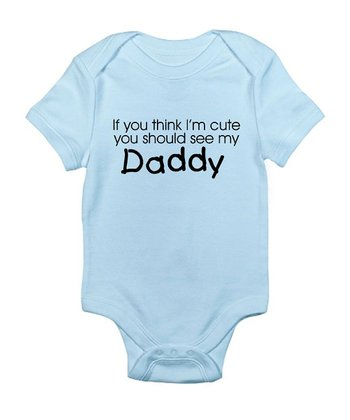 Sky Blue 'Daddy' Bodysuit - Infant