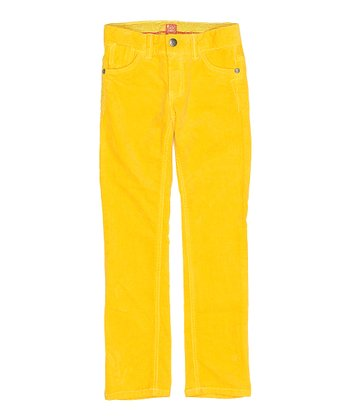 Yellow Dora Pants - Girls