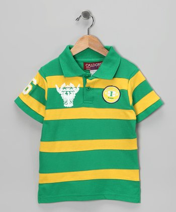Green & Yellow Stripe Polo