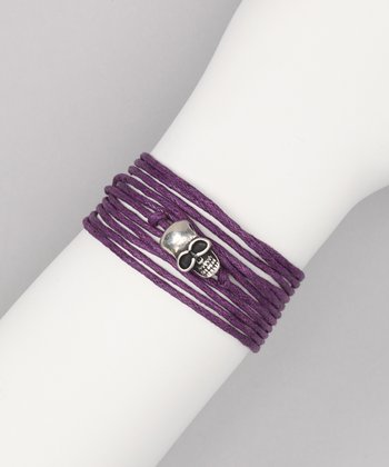 Purple Rope Wrap Bracelet