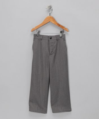 Gray Flat-Front Pants - Infant & Toddler