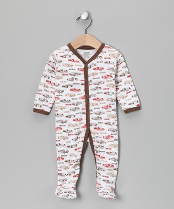 Calvin Klein Brown & Red Car Footie - Infant