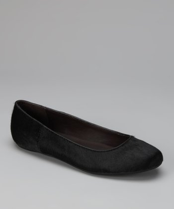 Black Haircalf Bailey Ballet Flat
