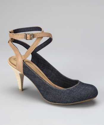 Dark Denim & Shell Tess Pump