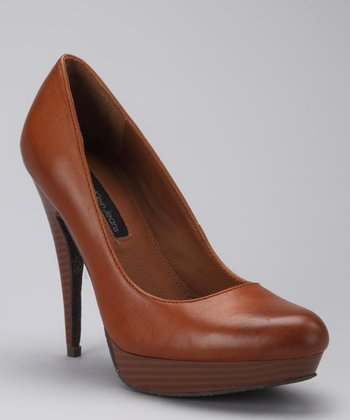 Dark Tan Emily Pump
