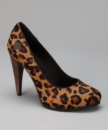 Leopard Haircalf Lindsay Pump