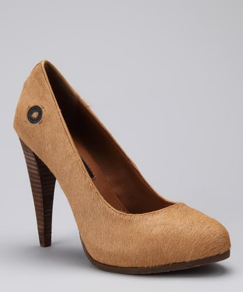 Tan Haircalf Lindsay Pump
