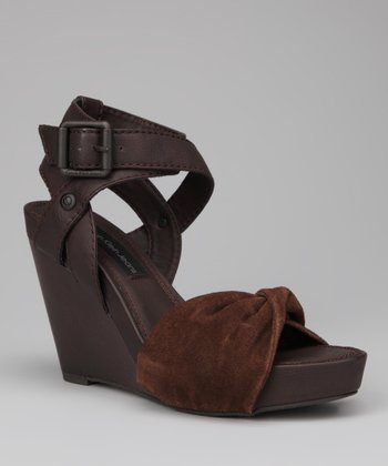 Dark Brown Hope Wedge Sandal