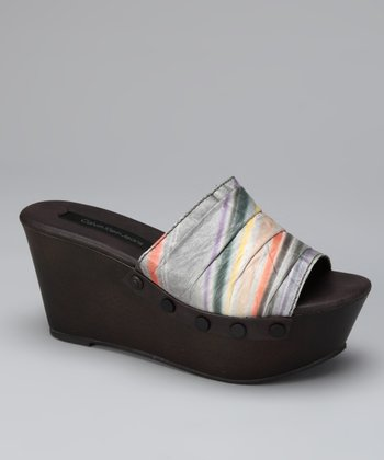 Dark Brown Cleo Wedge Slide
