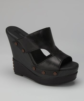 Black Bia Wedge Slide