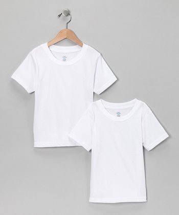 White Tee Set - Boys